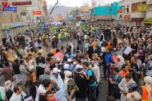 حملة 11 فبراير تخرج مسيرة حاشدة من ساحة التغيير بصنعاء تطالب باقالة و حاسبة حكومة الوفاق (302)