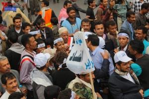 حملة 11 فبراير تخرج مسيرة حاشدة من ساحة التغيير بصنعاء تطالب باقالة و حاسبة حكومة الوفاق (305)