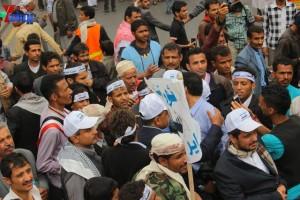 حملة 11 فبراير تخرج مسيرة حاشدة من ساحة التغيير بصنعاء تطالب باقالة و حاسبة حكومة الوفاق (306)