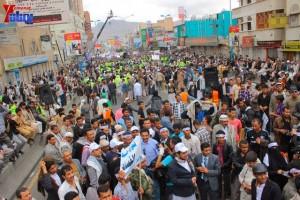 حملة 11 فبراير تخرج مسيرة حاشدة من ساحة التغيير بصنعاء تطالب باقالة و حاسبة حكومة الوفاق (307)