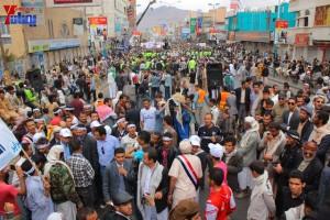 حملة 11 فبراير تخرج مسيرة حاشدة من ساحة التغيير بصنعاء تطالب باقالة و حاسبة حكومة الوفاق (308)