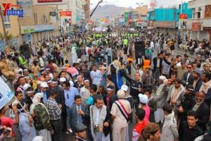 حملة 11 فبراير تخرج مسيرة حاشدة من ساحة التغيير بصنعاء تطالب باقالة و حاسبة حكومة الوفاق (310)