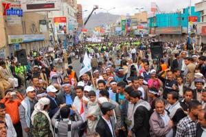 حملة 11 فبراير تخرج مسيرة حاشدة من ساحة التغيير بصنعاء تطالب باقالة و حاسبة حكومة الوفاق (313)
