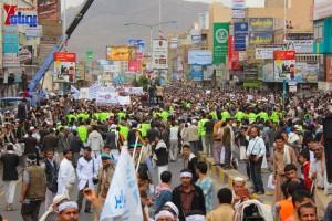 حملة 11 فبراير تخرج مسيرة حاشدة من ساحة التغيير بصنعاء تطالب باقالة و حاسبة حكومة الوفاق (314)