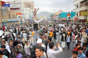 حملة 11 فبراير تخرج مسيرة حاشدة من ساحة التغيير بصنعاء تطالب باقالة و حاسبة حكومة الوفاق (317)
