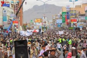 حملة 11 فبراير تخرج مسيرة حاشدة من ساحة التغيير بصنعاء تطالب باقالة و حاسبة حكومة الوفاق (318)