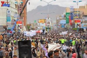 حملة 11 فبراير تخرج مسيرة حاشدة من ساحة التغيير بصنعاء تطالب باقالة و حاسبة حكومة الوفاق (319)