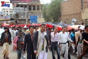حملة 11 فبراير تخرج مسيرة حاشدة من ساحة التغيير بصنعاء تطالب باقالة و حاسبة حكومة الوفاق (324)
