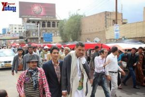 حملة 11 فبراير تخرج مسيرة حاشدة من ساحة التغيير بصنعاء تطالب باقالة و حاسبة حكومة الوفاق (325)