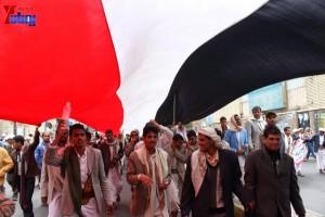 حملة 11 فبراير تخرج مسيرة حاشدة من ساحة التغيير بصنعاء تطالب باقالة و حاسبة حكومة الوفاق (328)