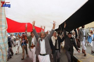 حملة 11 فبراير تخرج مسيرة حاشدة من ساحة التغيير بصنعاء تطالب باقالة و حاسبة حكومة الوفاق (333)