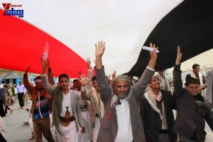 حملة 11 فبراير تخرج مسيرة حاشدة من ساحة التغيير بصنعاء تطالب باقالة و حاسبة حكومة الوفاق (334)