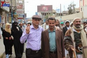 حملة 11 فبراير تخرج مسيرة حاشدة من ساحة التغيير بصنعاء تطالب باقالة و حاسبة حكومة الوفاق (336)