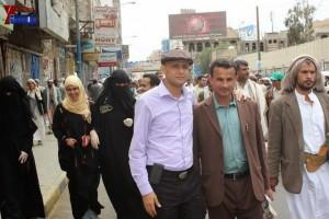 حملة 11 فبراير تخرج مسيرة حاشدة من ساحة التغيير بصنعاء تطالب باقالة و حاسبة حكومة الوفاق (337)
