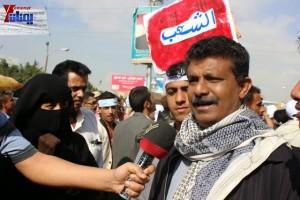 حملة 11 فبراير تخرج مسيرة حاشدة من ساحة التغيير بصنعاء تطالب باقالة و حاسبة حكومة الوفاق (38)