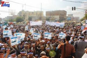حملة 11 فبراير تخرج مسيرة حاشدة من ساحة التغيير بصنعاء تطالب باقالة و حاسبة حكومة الوفاق (54)