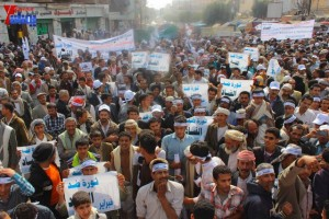 حملة 11 فبراير تخرج مسيرة حاشدة من ساحة التغيير بصنعاء تطالب باقالة و حاسبة حكومة الوفاق (61)