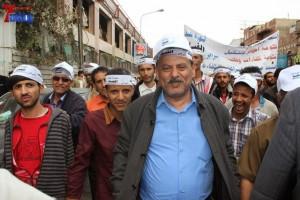 حملة 11 فبراير تخرج مسيرة حاشدة من ساحة التغيير بصنعاء تطالب باقالة و حاسبة حكومة الوفاق (63)