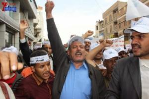 حملة 11 فبراير تخرج مسيرة حاشدة من ساحة التغيير بصنعاء تطالب باقالة و حاسبة حكومة الوفاق (68)