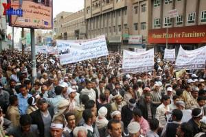 حملة 11 فبراير تخرج مسيرة حاشدة من ساحة التغيير بصنعاء تطالب باقالة و حاسبة حكومة الوفاق (72)