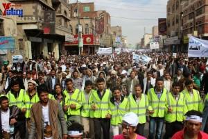 حملة 11 فبراير تخرج مسيرة حاشدة من ساحة التغيير بصنعاء تطالب باقالة و حاسبة حكومة الوفاق (77)