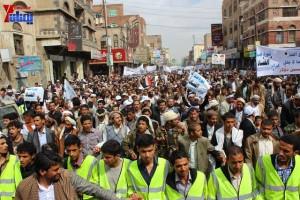 حملة 11 فبراير تخرج مسيرة حاشدة من ساحة التغيير بصنعاء تطالب باقالة و حاسبة حكومة الوفاق (78)