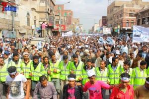 حملة 11 فبراير تخرج مسيرة حاشدة من ساحة التغيير بصنعاء تطالب باقالة و حاسبة حكومة الوفاق (80)