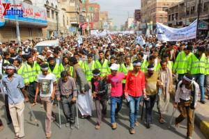 حملة 11 فبراير تخرج مسيرة حاشدة من ساحة التغيير بصنعاء تطالب باقالة و حاسبة حكومة الوفاق (81)