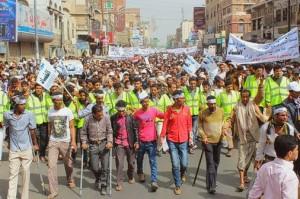 حملة 11 فبراير تخرج مسيرة حاشدة من ساحة التغيير بصنعاء تطالب باقالة و حاسبة حكومة الوفاق (82)