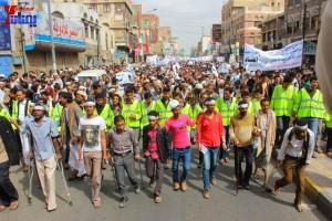 حملة 11 فبراير تخرج مسيرة حاشدة من ساحة التغيير بصنعاء تطالب باقالة و حاسبة حكومة الوفاق (84)