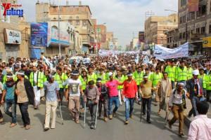 حملة 11 فبراير تخرج مسيرة حاشدة من ساحة التغيير بصنعاء تطالب باقالة و حاسبة حكومة الوفاق (85)