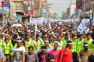 حملة 11 فبراير تخرج مسيرة حاشدة من ساحة التغيير بصنعاء تطالب باقالة و حاسبة حكومة الوفاق (89)