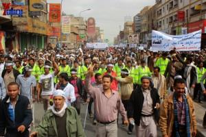 حملة 11 فبراير تخرج مسيرة حاشدة من ساحة التغيير بصنعاء تطالب باقالة و حاسبة حكومة الوفاق (90)