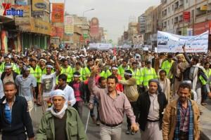 حملة 11 فبراير تخرج مسيرة حاشدة من ساحة التغيير بصنعاء تطالب باقالة و حاسبة حكومة الوفاق (91)