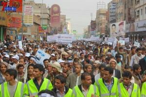 حملة 11 فبراير تخرج مسيرة حاشدة من ساحة التغيير بصنعاء تطالب باقالة و حاسبة حكومة الوفاق (93)