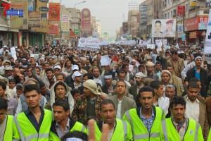 حملة 11 فبراير تخرج مسيرة حاشدة من ساحة التغيير بصنعاء تطالب باقالة و حاسبة حكومة الوفاق (97)