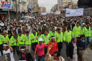 حملة 11 فبراير تخرج مسيرة حاشدة من ساحة التغيير بصنعاء تطالب باقالة و حاسبة حكومة الوفاق (98)