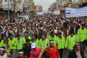 حملة 11 فبراير تخرج مسيرة حاشدة من ساحة التغيير بصنعاء تطالب باقالة و حاسبة حكومة الوفاق (99)