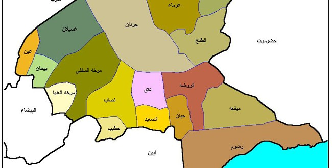 خريطة محافظة شبوة