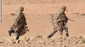 جنود مموهين في الحدود