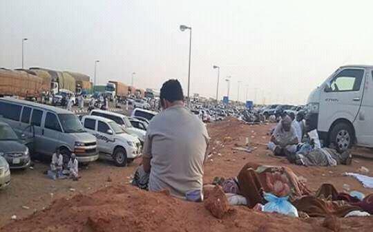 يمنيون في منفذ الوديعة1