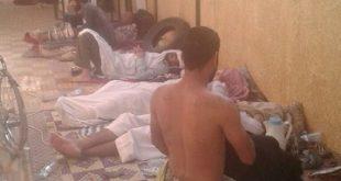 الجرحى في حوش السفارة اليمنية في الخرطوم