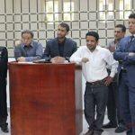 محمد العبسي ومحمد عايش في محكمة الصحافة