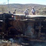 سيارة القيادي في القاعدة الرصاص بعد استهدافها بغارة في البيضاء
