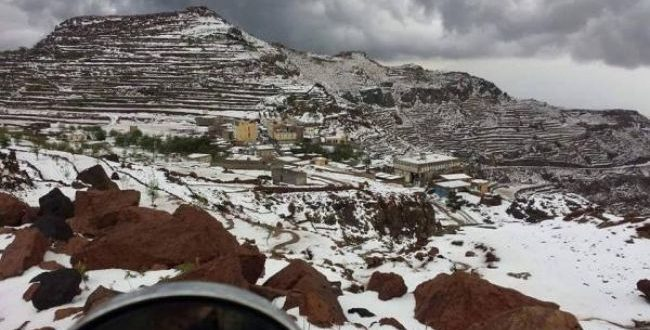 ثلوج في اليمن