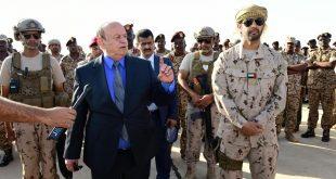 هادي وضابط في القوات الاماراتية